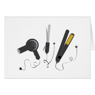 Hair Stylist Tools Greeting Card