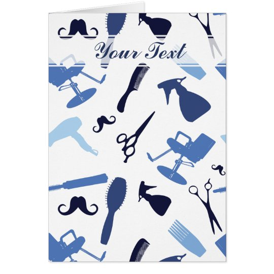 Hair stylist tools pattern card
