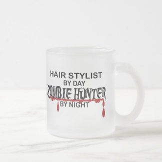 Hair Stylist Zombie Hunter Frosted Glass Mug