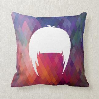 Hair Trims Pictogram Throw Pillow