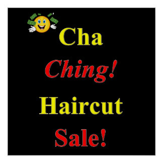 Haircut Sale Poster Matte
