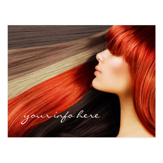 Haircut Stylist Coloured Long Hair Design Postcard
