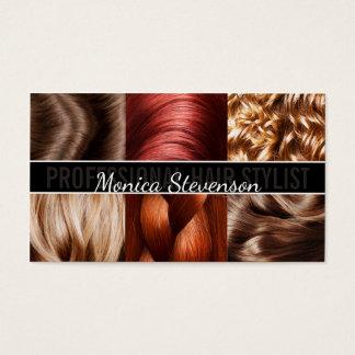 Haircut Stylist Hairdresser Trendy Business Card