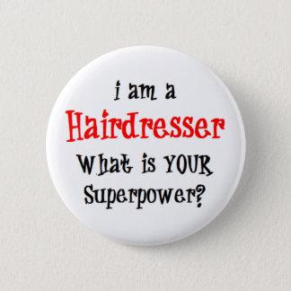 hairdresser 6 cm round badge