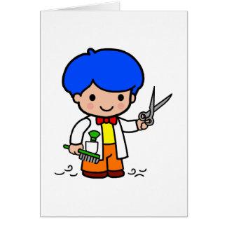 Hairdresser Boy Greeting Card