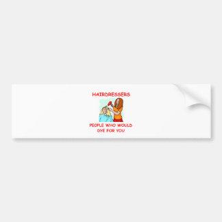 hairdresser bumper stickers