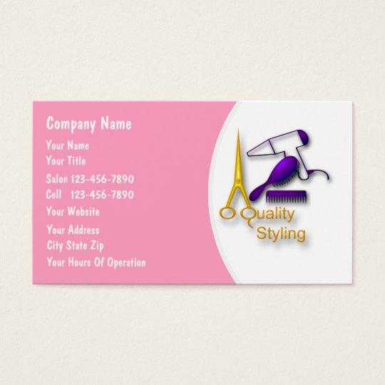 Hairdresser Business Cards