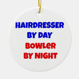 Hairdresser by Day Bowler by Night Christmas Ornament