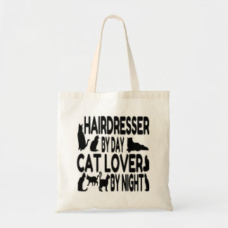 Hairdresser by Day Cat Lover by Night Budget Tote Bag
