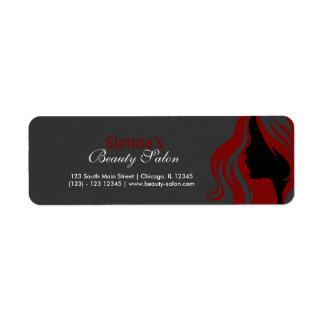 Hairdresser (Dark Red) Return Address Label
