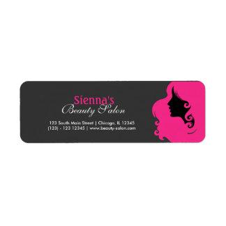 Hairdresser (Deep Pink) Return Address Label