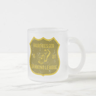 Hairdresser Drinking League Frosted Glass Mug