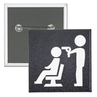 Hairdresser Dryings Pictograph 15 Cm Square Badge