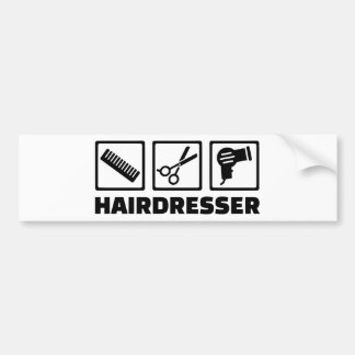 Hairdresser equipment bumper sticker