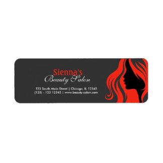 Hairdresser (firebrick) return address label