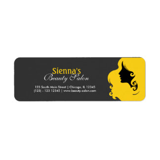 Hairdresser (Gold) Return Address Label
