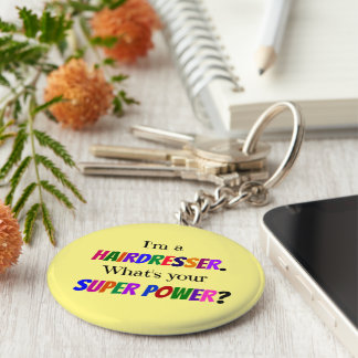 Hairdresser Humor Key Ring