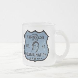 Hairdresser Obama Nation Frosted Glass Mug
