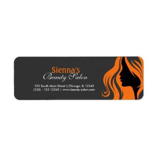 Hairdresser (orange) return address label
