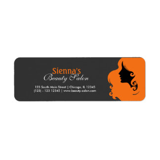 Hairdresser (Orange) Return Address Label