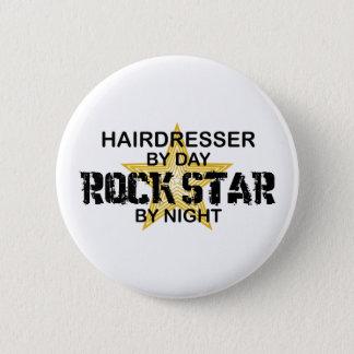 Hairdresser Rock Star by Night 6 Cm Round Badge