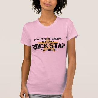 Hairdresser Rock Star by Night T-Shirt