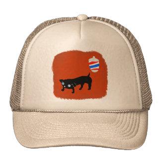 Hairdresser s black dog hats