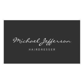 Hairdresser Script Professional Business Card