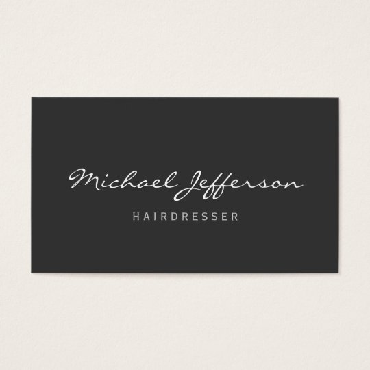 Hairdresser Script Professional Business Card