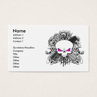 Hairdresser Skull Business Card