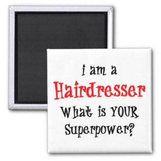 hairdresser square magnet