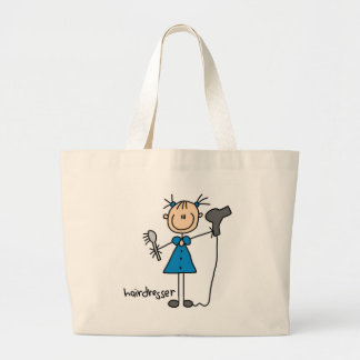 Hairdresser Stick Figure Canvas Bags