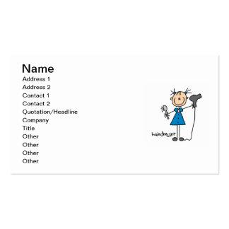 Hairdresser Stick Figure Business Card Template