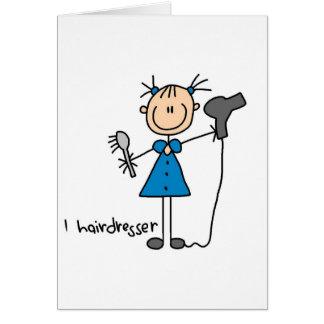 Hairdresser Stick Figure Card