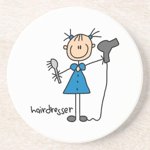 Hairdresser Stick Figure Coaster
