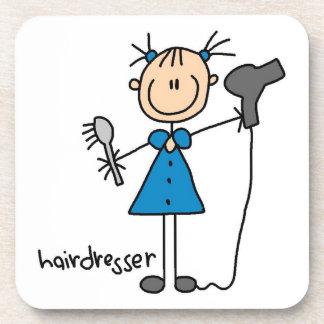 Hairdresser Stick Figure Coasters