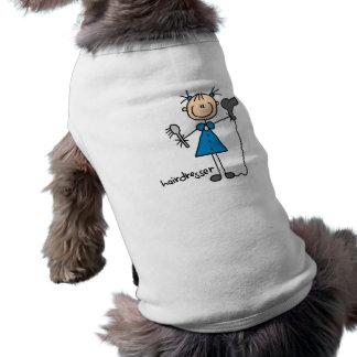 Hairdresser Stick Figure Pet T Shirt