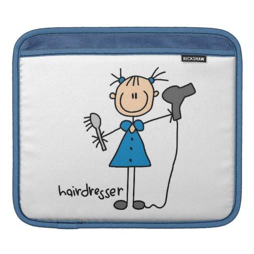 Hairdresser Stick Figure iPad Sleeve