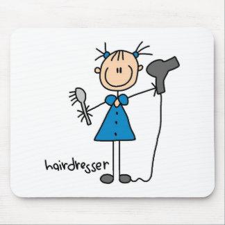 Hairdresser Stick Figure Mousepad