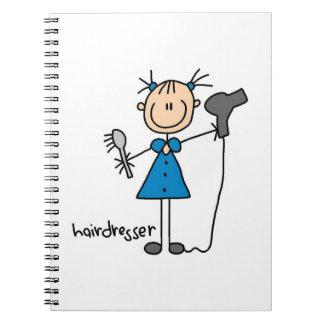 Hairdresser Stick Figure Journal
