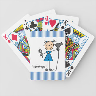 Hairdresser Stick Figure Poker Deck