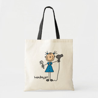 Hairdresser Stick Figure Tote Bag