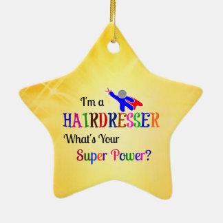 Hairdresser Super Power Christmas Ornament