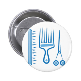Hairdresser Tools 6 Cm Round Badge