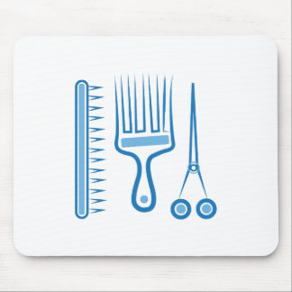 Hairdresser Tools Mouse Pad