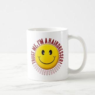 Hairdresser Trust Smiley Basic White Mug