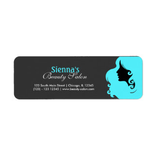 Hairdresser (Turquoise) Return Address Label
