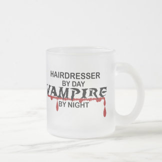 Hairdresser Vampire by Night Frosted Glass Coffee Mug