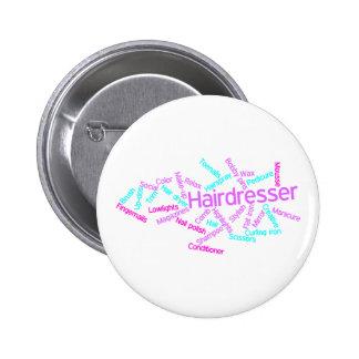 Hairdresser Word Cloud Button