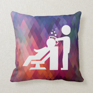 Hairdresser Works Pictogram Cushion
